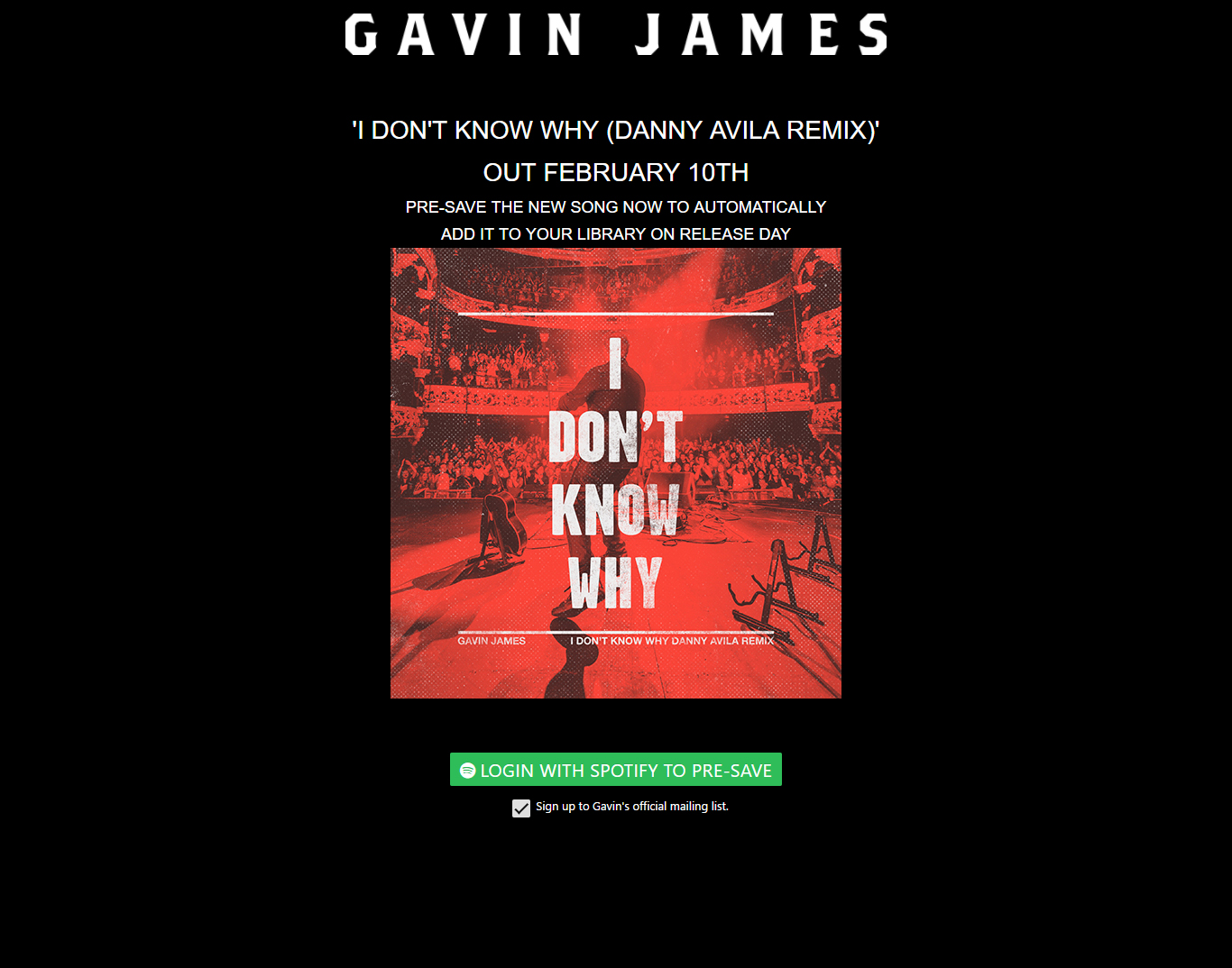 Gavin James Pre-Save for Spotify, Gavin James Presave For Spotify, Gavin James Spotify Pre-Save