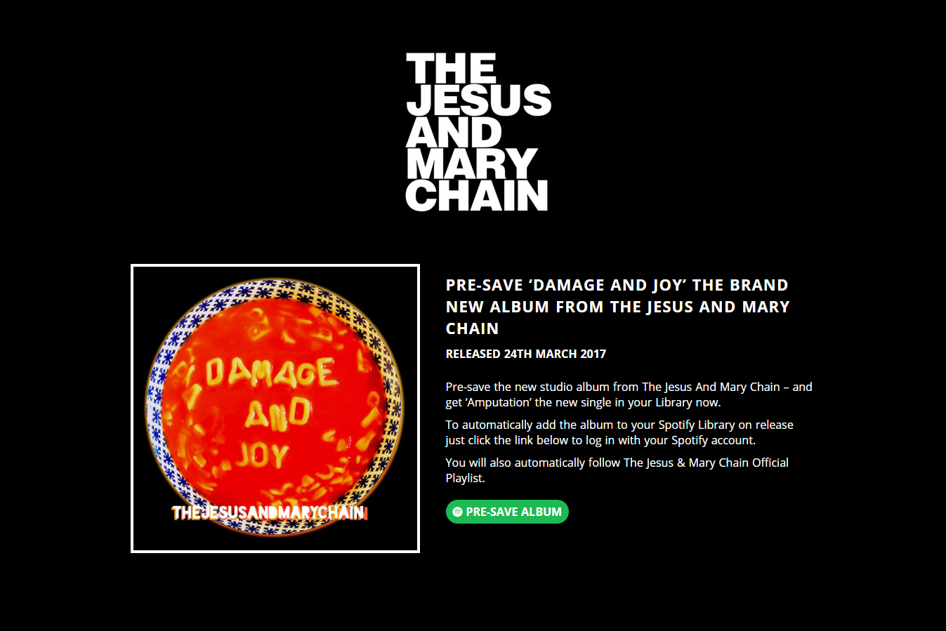 The Jesus and Mary Chain Pre-Save for Spotify, The Jesus and Mary Chain Presave For Spotify, The Jesus and Mary Chain Spotify Pre-Save